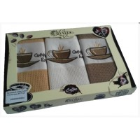 Набор полотенец кухонных COFFEE 104 45х70, , 165.00 грн., 100100100104, Лотус, Полотенца кухонные