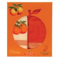 """Набор из 2х полотенец кухонных """"Апельсин"""" 45х70, , 172.00 грн.,  m006824, Mariposa, Полотенца кухонные"""
