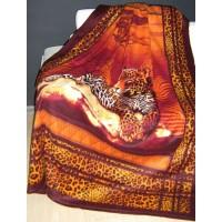 "Плед флисовый ""Леопард"" 150х200, , 325.00 грн., 240595, Любимый дом, Пледы"