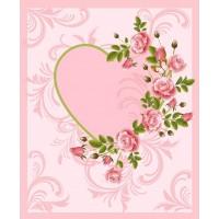 """Плед флисовый """"Сердце"""" 150х200, , 325.00 грн., 228269, Любимый дом, Пледы"""
