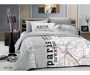 """Комплект Le Vele Saten """"Paris map"""" евро"""